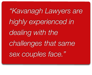 Kavanagh Lawyers providing legal advice on same sex relationships